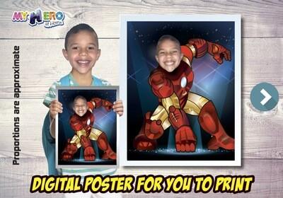 Iron Man Poster, Iron Man Decoration, Iron Man Art, Iron Man Fans, Iron Man Gifts, Avengers Decor, Avengers Gifts Fans, Iron Man Party. 474