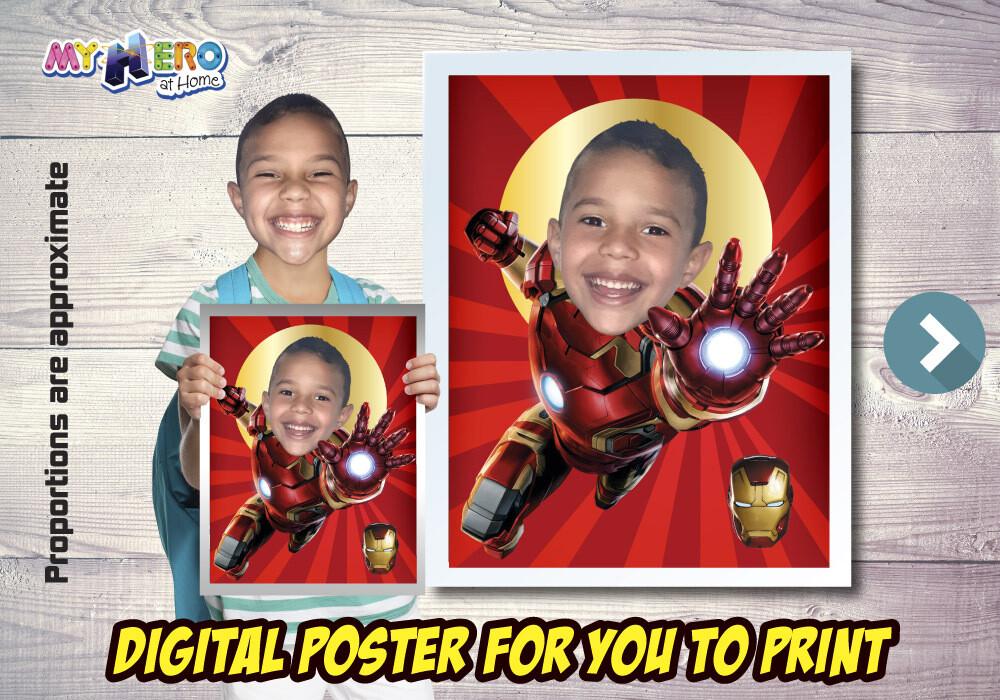 Iron-Man Poster. Iron-Man Decoration. Iron-Man Art. Iron-Man Fans. Iron-Man Gifts. Avengers Decor. Avengers Gifts Fans. Iron-Man Party. 475