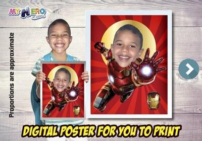 Iron-Man Poster, Iron-Man Decoration, Iron-Man Art, Iron-Man Fans, Iron-Man Gifts, Avengers Decor, Avengers Gifts Fans, Iron-Man Party. 475
