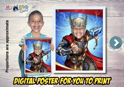 Thor Poster, Thor Decoration, Thor Fans, Thor Gifts, Avengers Decor, Avengers Gifts Fans, Thor Party Decor, Thor Wall. 477
