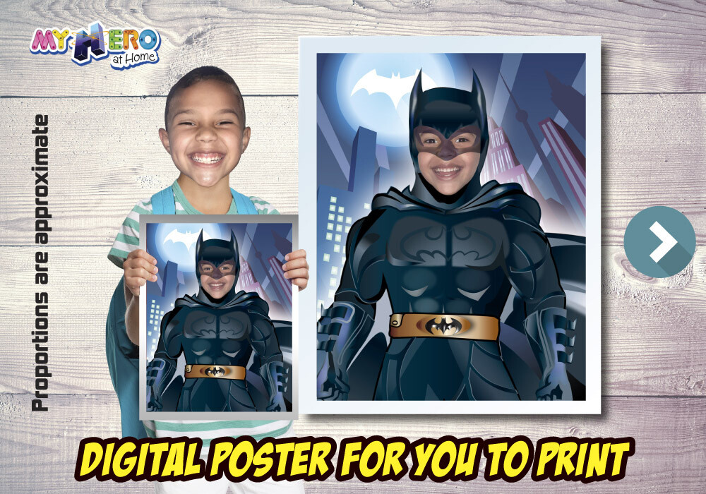 Batman Poster, Batman Decoration, Batman Gifts Fans, Justice League Decor, Batman Party Decor, Batman Birthday. 480