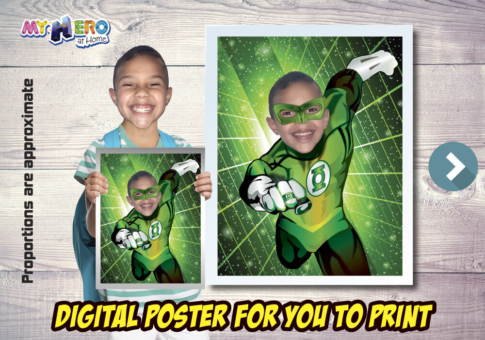 Green Lantern Poster, Green Lantern Decoration, Green Lantern Gifts Fans, Justice League Decor. Green Lantern Party Decor. 482