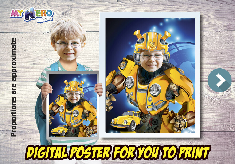 Bumblebee Poster. Bumblebee Decoration. Bumblebee Fans. Bumblebee Gifts. Transformers Decor. Transformers Party. 490