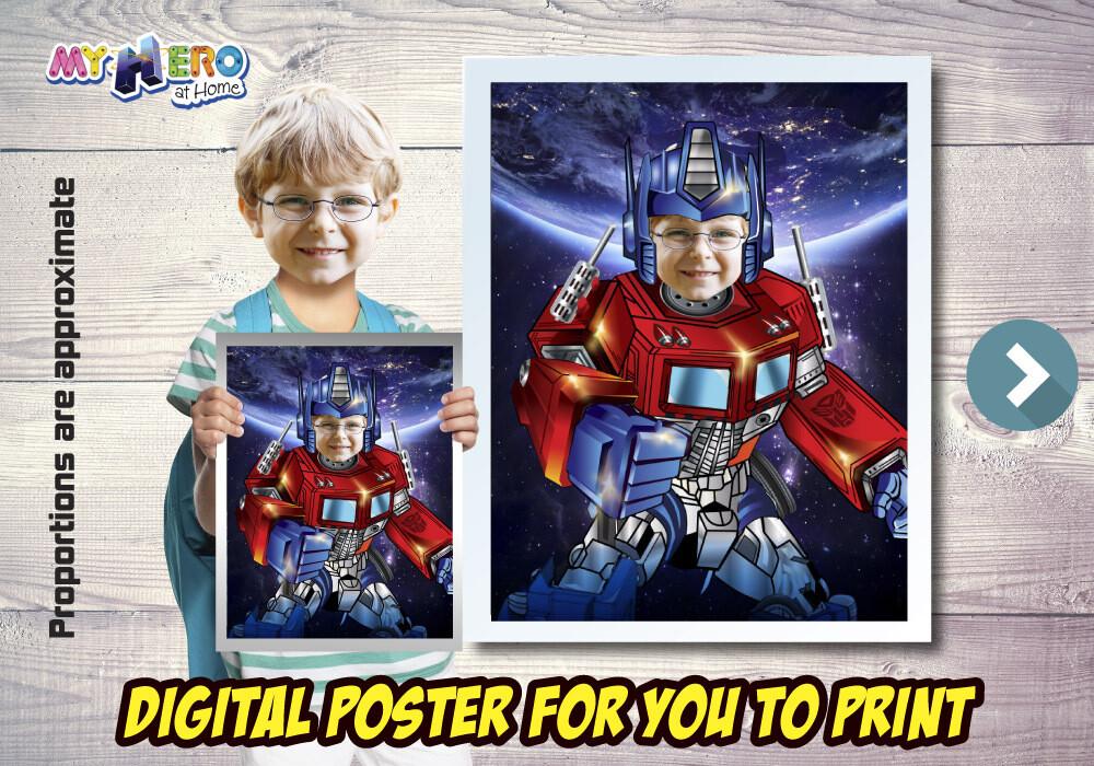 Optimus Prime Poster. Optimus Prime Decoration. Optimus Prime Fans. Optimus Prime Gifts. Transformers Decor. Transformers Party. 491