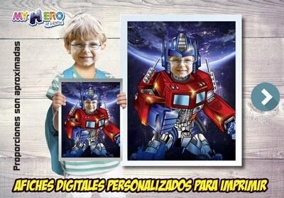 Afiche Personalizado de Optimus Prime.  Afiche Transformers. Decoración Optimus Prime. 491SP