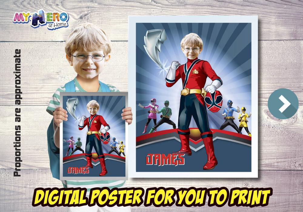 Power Rangers Poster. Power Rangers Decoration. Power Rangers Fans. Power Rangers Gifts. Red Power Ranger. 489