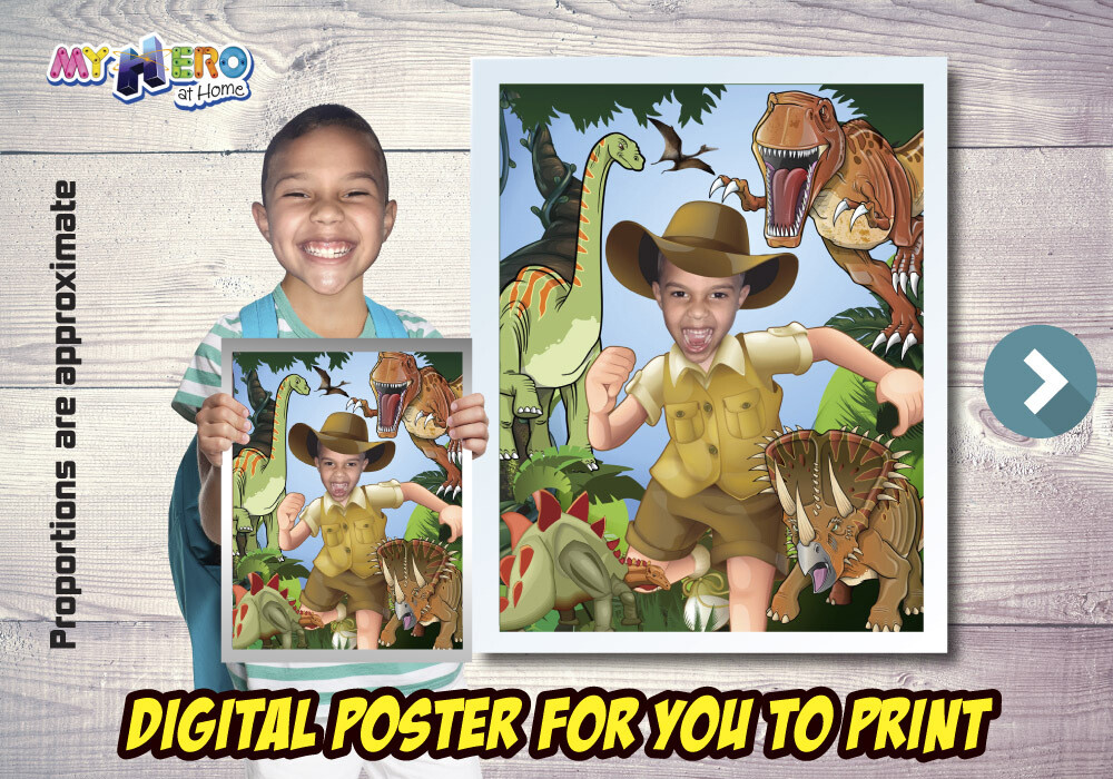 Dinosaurs Poster, Dinosaurs Decoration, Dinosaurs Gifts Fans, Dinosaurs Wall, T-Rex Poster, Explorer Poster, Dinosaurs party Decor. 492