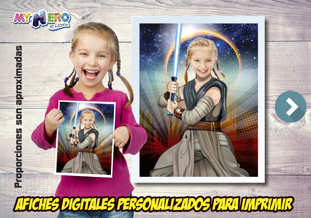 Afiche Personalizado de Jedi Rey, Decoración Jedi Rey, Afiche Jedi Rey, Decoracion Star Wars. 496SP