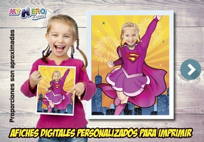 Afiche Personalizado de la Supergirl, Decoración Supergirl, Afiche Supergirl. Fiesta Supergirl. 503SP