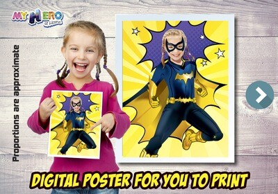 Batwoman Poster, Batwoman Decor, Batwoman Gifts Fans, Batwoman Wall, Super Hero Girls Decor, Hero Girls Gifts Fans, Batwoman Party. 504