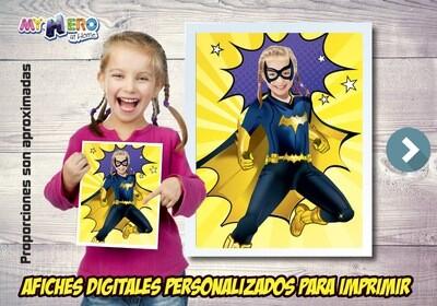 Afiche Personalizado de la Batichica, Decoración Batichica, Afiche Batichica. Fiesta Batichica. 504SP
