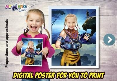 Princess Shuri Poster, Princess Shuri Decor, Black Panther Gifts Fans, Princess Shuri Wall, Girls Avengers Decor, Princess Shuri Party. 505