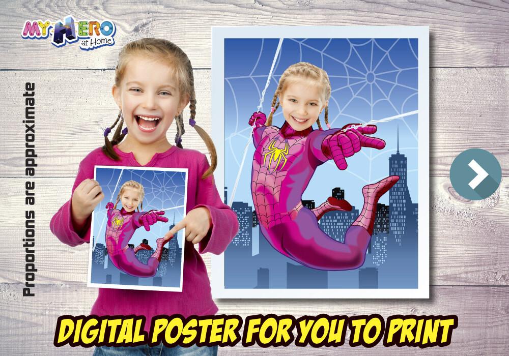 Spider-Girl Poster, Spider-Girl Decoration, Spider-Girl Gifts Fans, Spider-Girl Wall, Girls Avengers Decor, Spider-Girl Party. 507