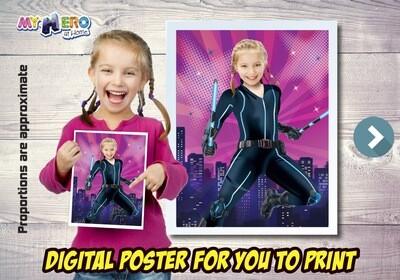 Black Widow Poster, Black Widow Decoration, Black Widow Gifts Fans, Black Widow Wall, Girls Avengers Decor,  Black Widow Party. 506