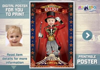 Circus Poster, Ringmaster Poster, Ringleader Poster, Circus Decoration, Circus Room Decor, Circus Gifts, Circus Party Decor. 508