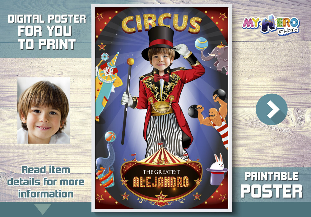 Circus Poster, Ringmaster Poster, Ringleader Poster, Circus Decoration, Circus Room Decor, Circus Gifts, Circus Party Decor. 509