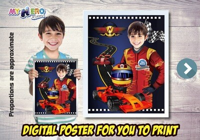 Race Car Poster, Formula One Poster, Grand Prix Poster, Race Car Decoration, Race Car Room Decor, Race Car Gifts, Race Car Party Decor. 494