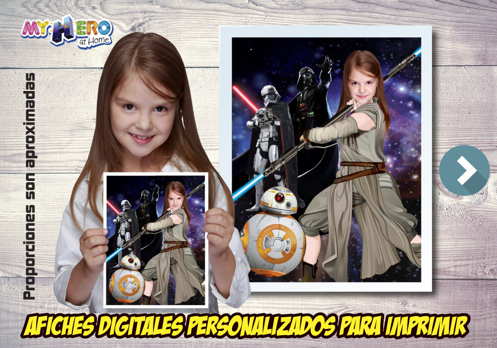 Afiche Personalizado de Jedi Rey, Decoración Jedi Rey, Afiche Jedi Rey, Decoracion Star Wars. 495SP