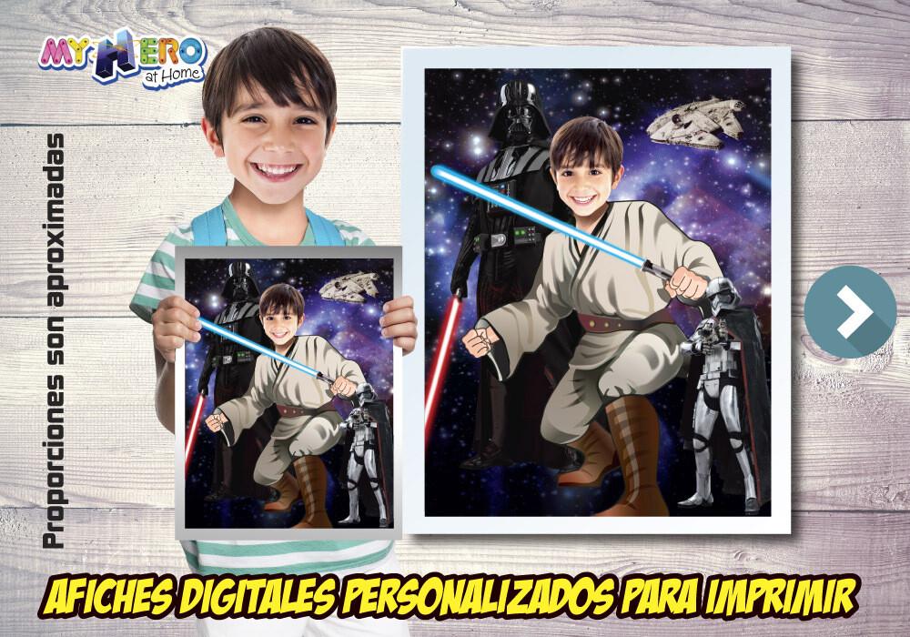 Afiche Personalizado de Jedi, Decoración Jedi, Afiche Jedi, Decoracion Star Wars, Fiesta tema Jedi. 497SP