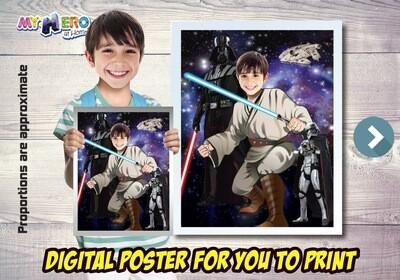 Jedi Poster, Jedi Decoration, Jedi Gifts Fans, Jedi Wall, Star Wars Poster, Star Wars Decor, Star Wars Gifts Fans, Jedi Party. 497