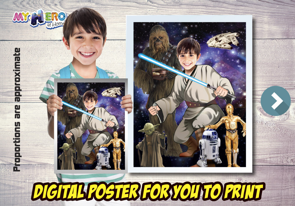 Jedi Poster, Jedi Decoration, Jedi Gifts Fans, Jedi Wall, Star Wars Poster, Star Wars Decor, Star Wars Gifts Fans, Jedi Party. 497B