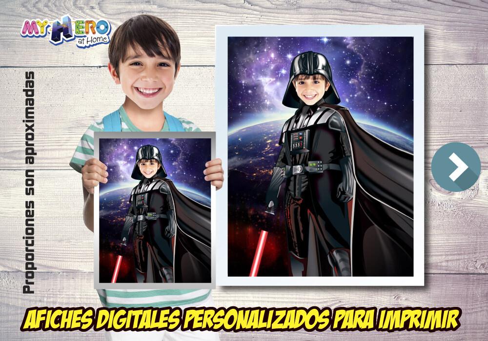 Afiche de Darth Vader, Afiche Personalizado de Star Wars, Decoración Dark Side, Fiesta Darth Vader Star Wars. 498SP