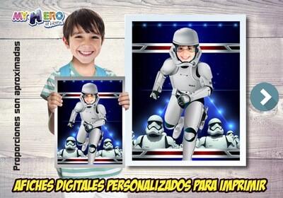 Afiche de Stormtrooper, Afiche del Lado Oscuro Star Wars, Decoration Stormtrooper, Afiche de Tropas de Asalto Star Wars. 499SP