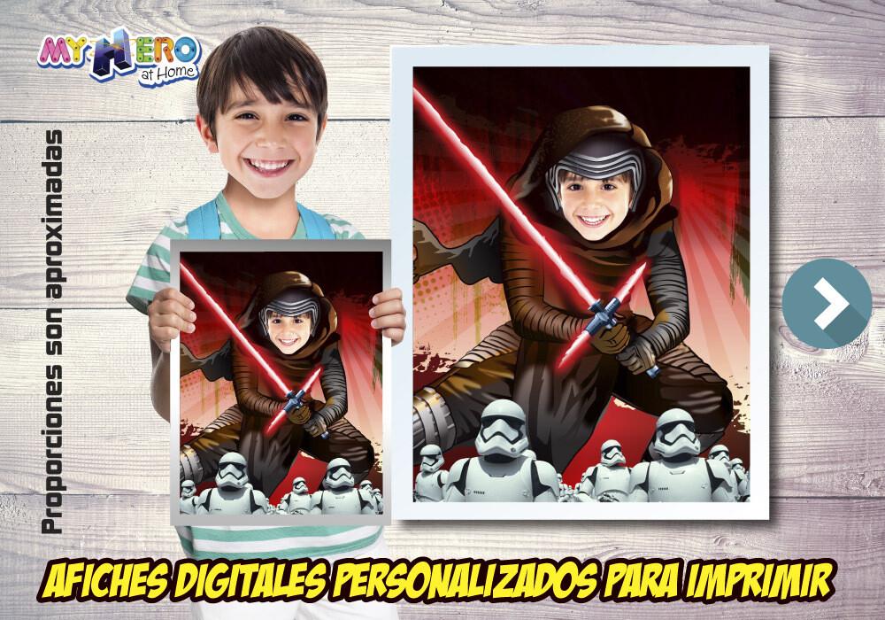 Afiche de Kylo Ren, Afiche del Lado Oscuro Star Wars, Decoration Kylo Ren, Afiche de Kylo Ren Star Wars. 500SP