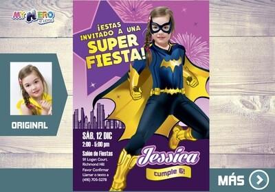Batichica Invitacion de Cumpleanos, Fiesta tema Batichica  Invitacion de Batichica, Cumple tema Batichica. 185SP