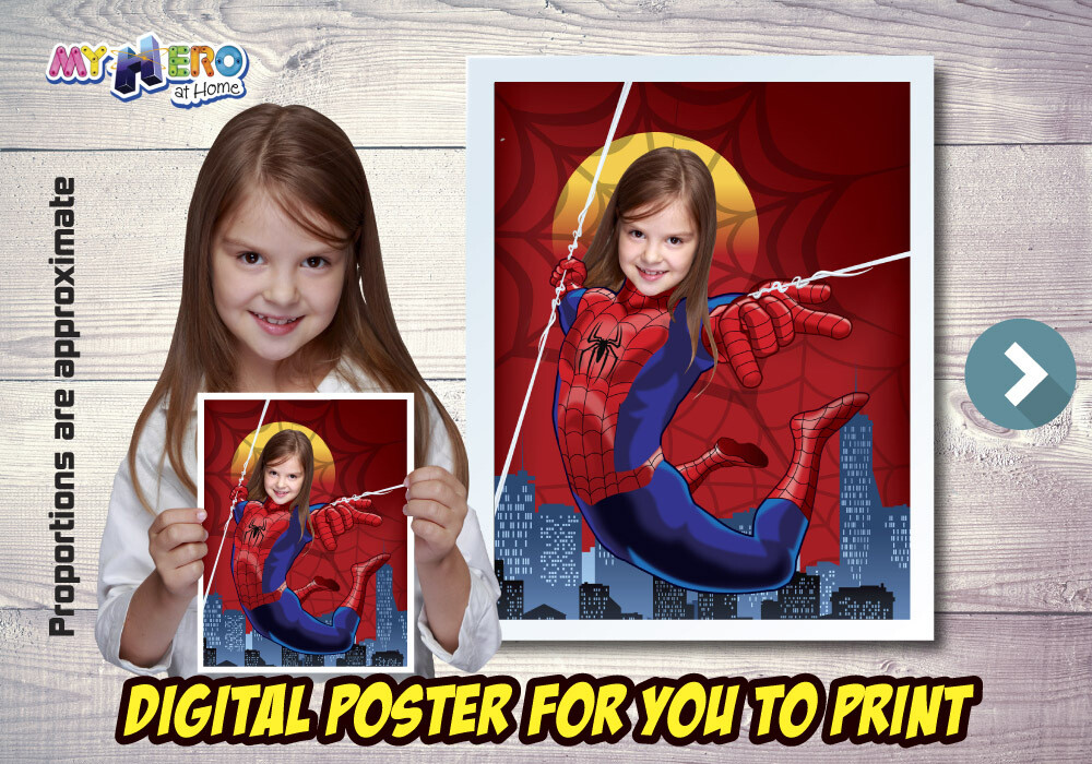 Spider-Woman Poster, Spider-Woman Decoration, Spider-Woman Gifts Fans, Spider-Woman Wall, Girls Avengers Decor, Spider-Woman Party. 516