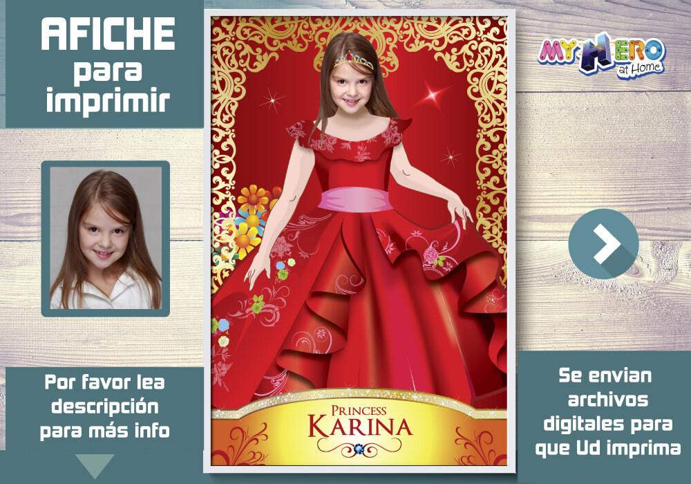 Princesa Elena de Avalor Afiche, Princesa Elena de Avalor Decoracion, Afiche Peronalizado de la Princesa Elena de Avalor. 517SP