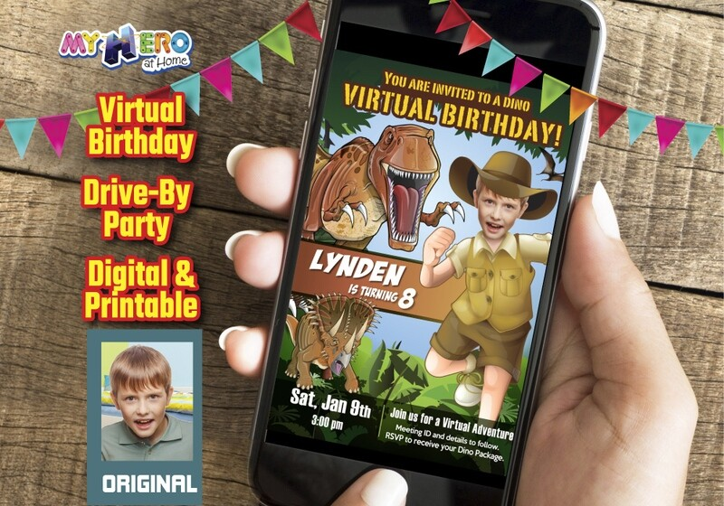 Dinosaurs Virtual Birthday, Dinosaurs Social Distance Birthday, Dinosaur Virtual Party, Dinosaurs Drive By, Dinosaurs Birthday Parade. 208CV