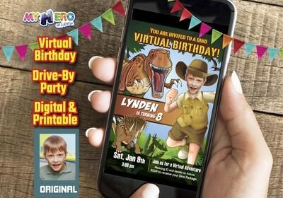 Dinosaurs Virtual Birthday, Dinosaurs Social Distance Birthday, Dinosaur Virtual Party, Dinosaurs Drive By, Dinosaurs Birthday Parade. 208CV