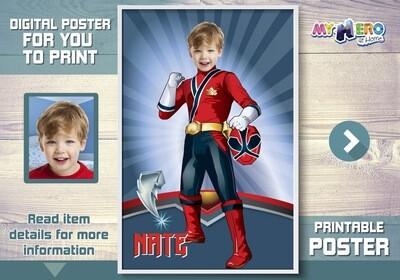Power Rangers Poster, Power Rangers Decor, Power Rangers Backdrop, Power Rangers party Decor, Power Rangers theme. 464
