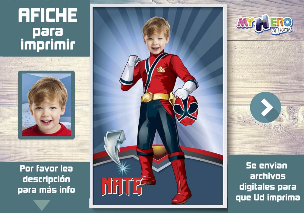 Afiche de Power Rangers, Afiche Personalizado de Power Rangers, Decoración Power Rangers, Pared Power Rangers. 464SP
