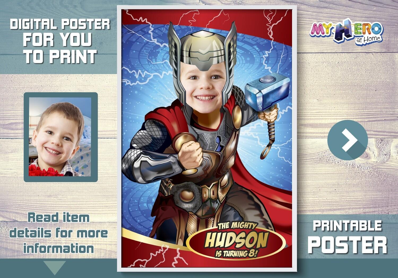 Thor Poster, Thor Room Decor, Thor Wall Decor, Thor Art Poster, Thor Backdrop, Thor Decal, Thor Party decor, Printable Thor Poster. 530