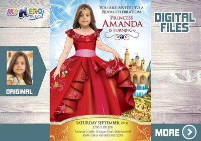 Princess Elena of Avalor Bday Invitation, Princess Elena of Avalor Party, Princess Elena thank you, Princess Elena digital invitation. 247