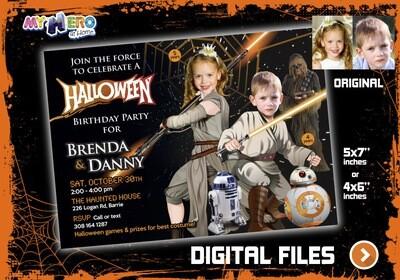 Joint Halloween Star Wars Party, Halloween Star Wars theme party, Halloween Star Wars Siblings Birthday, Star Wars Halloween. 034