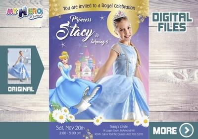 Cinderella Bday Invitation, Cinderella Photo Invitation, Cinderella Birthday, Cinderella Party, Cinderella Favors, Fiesta Cenicienta. 258