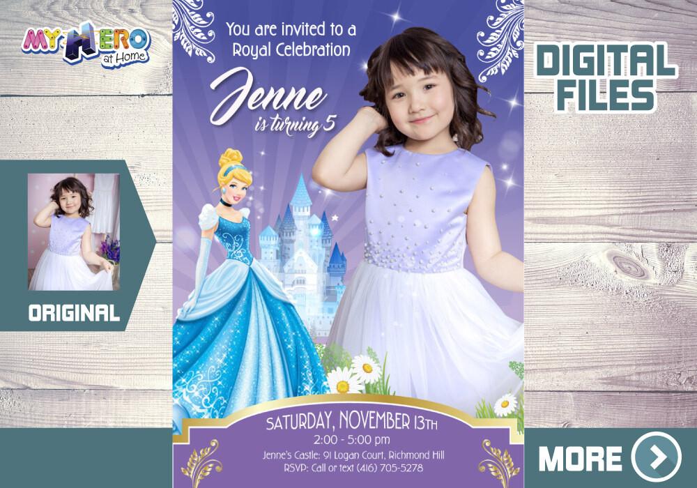 Cinderella Party Invitation, Cinderella Digital, My own Cinderella invitation, Cinderella Bday, Cinderella Favor tags, Invita Cenicienta. 259