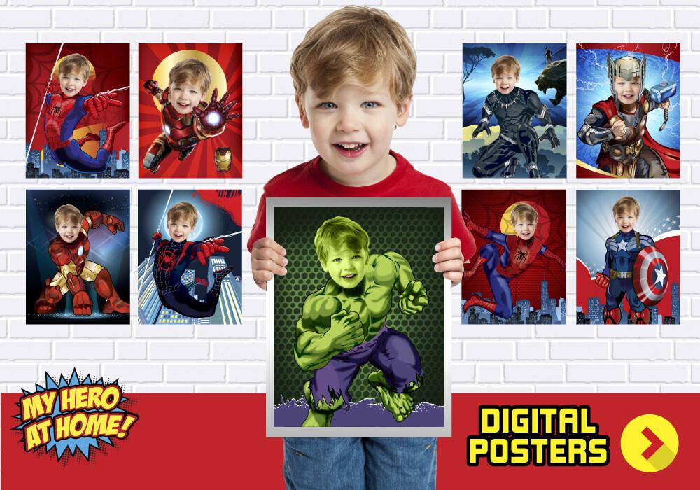 Avengers Room Decor, Avengers Fans, Super heroes gifts, Super heroes decor, Superheroes party decor, Superheros posters. 462B