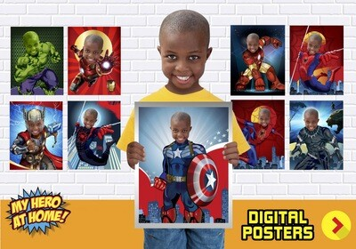 Avengers Posters, Hulk, Spiderman, Ironman, Thor, Captain America, Black Panther, Miles Morales, Avengers Decor, Avengers Gifts. 462C