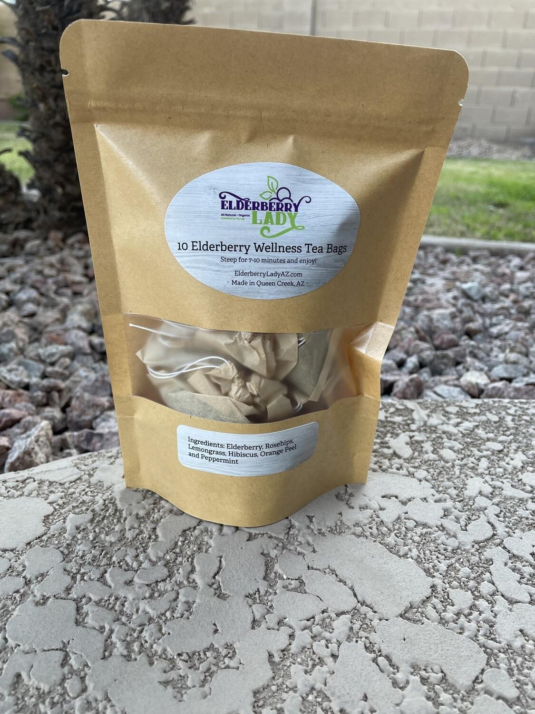 Organic Elderberry Wellness Tea Bags