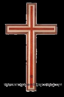 Three Layer Beveled Wooden Crosses - 8