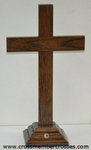 "Traditional Wooden Table Crosses - 8"" up to 24"""