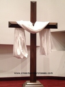 Single Layer Beveled Altar Floor Crosses - 48""