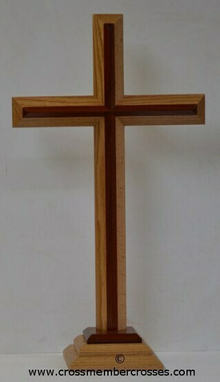 Two Layer Beveled Altar Floor Crosses - 60""