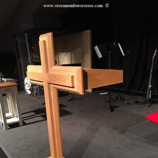 Traditional Wooden Cross Pulpits