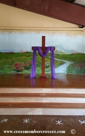 """Traditional Altar Floor Cross - 36"""" up to 72"""""""