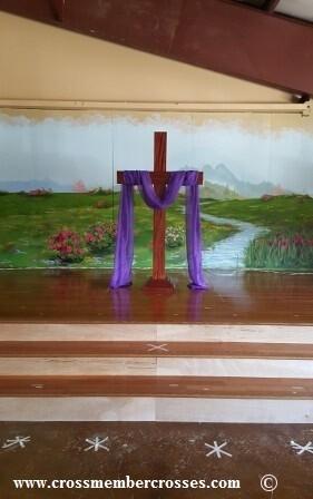 """Traditional Altar Floor Cross - 48"""""""